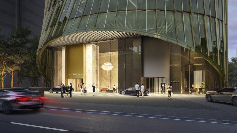 凱悅酒店集團旗下最高等級的 Park Hyatt(柏悅) 與 Andaz(安達仕)將入駐「Taipei Sky Tower 」打造全球首座雙品牌飯店。圖/碩河開發提供