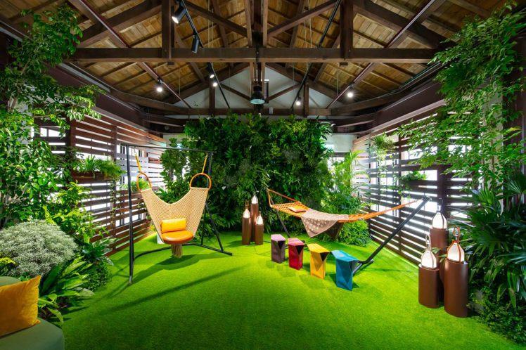 路易威登Objects Nomades貴賓預約展,也陳列了以戶外生活為主題的家具...