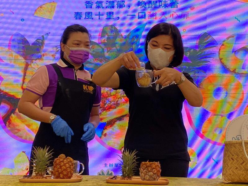 雲林縣府聯合多家業者推出各式鳳梨創意產品,酸甜好滋味。圖/雲林縣府提供