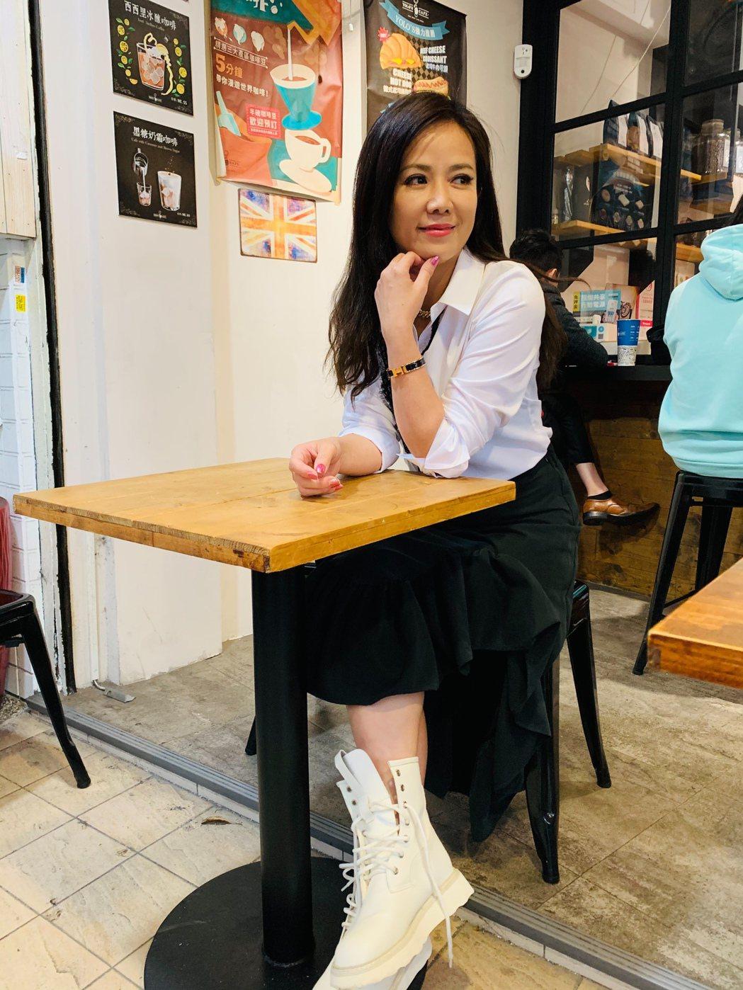 陳仙梅難得有休閒時間可以喝咖啡。記者陳慧貞/攝影