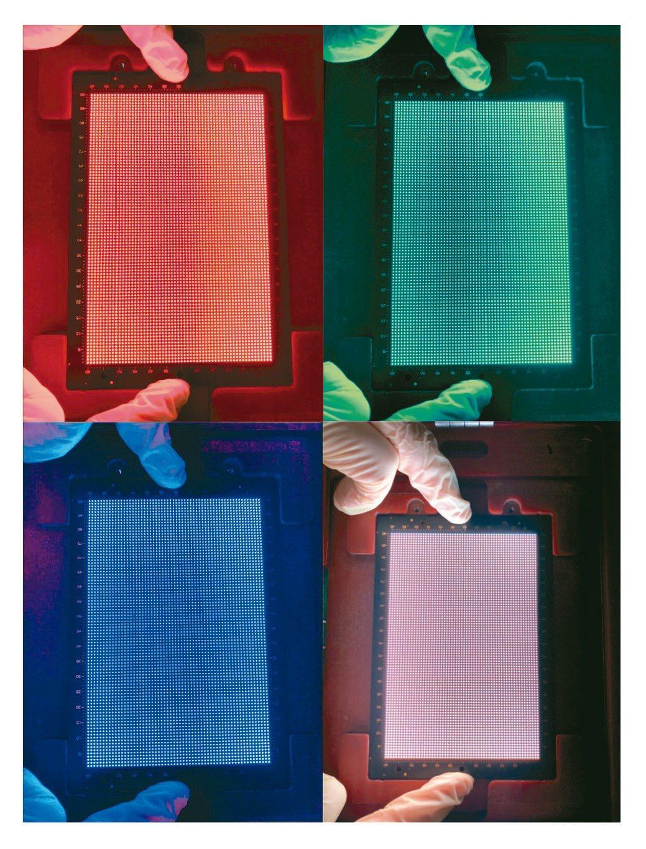 透過梭特的MiniLED RGB顯示屏製程設備完整方案FOB Solution,...