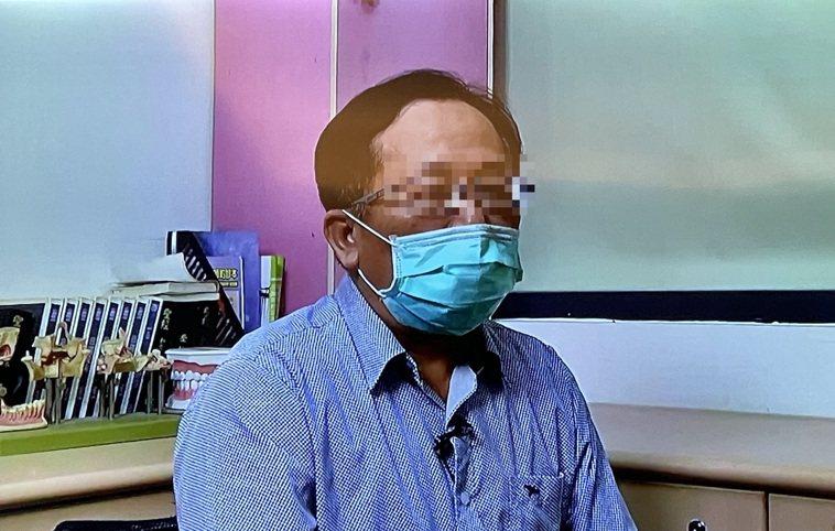 患有糖尿病的嘉義市55歲張姓男子也患牙周病。記者林伯驊/翻攝