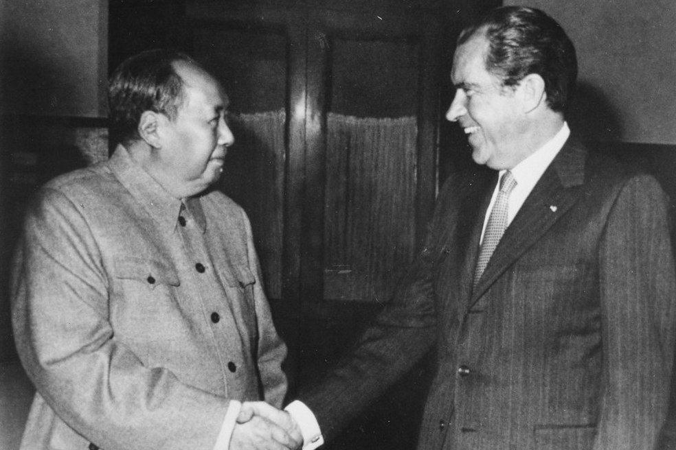 尼克森1972年訪問中國時與毛澤東會面。 圖/維基共享