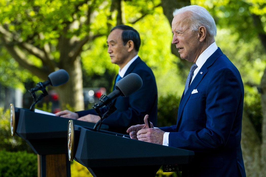 本次美日聯合聲明與1969年的差異在於,其為更明確清晰的政治宣示。理由不難理解,在美日心目中,習近平的中國早已取代前蘇聯與北韓成為新的威脅來源。 圖/歐新社