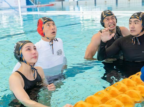 「全明星運動會第二季」日前進行水球比賽。圖/擷自林敬倫臉書
