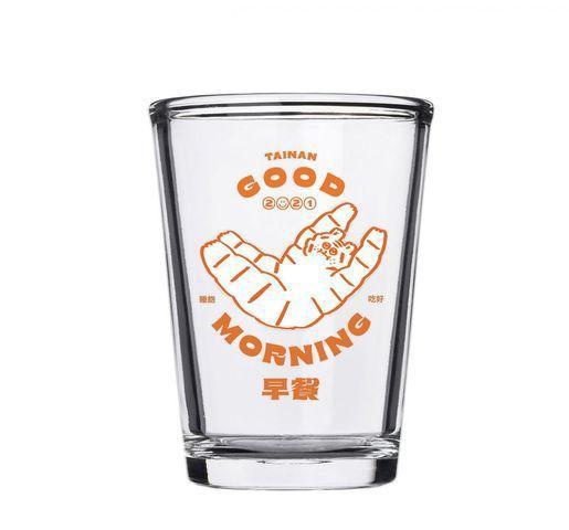 「台南早餐生活節」設計玻璃杯。 圖/台南早餐生活節提供
