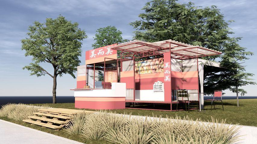 主辦單位攜手建築師黃若珣,重現40年前美而美的經典早餐店。 圖/台南早餐生活節提...
