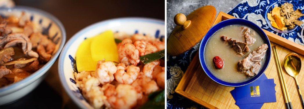 「矮仔成」蝦仁飯(左)與六代食補中藥老店「博仁堂」(右)都將出攤。 圖/台南早餐...