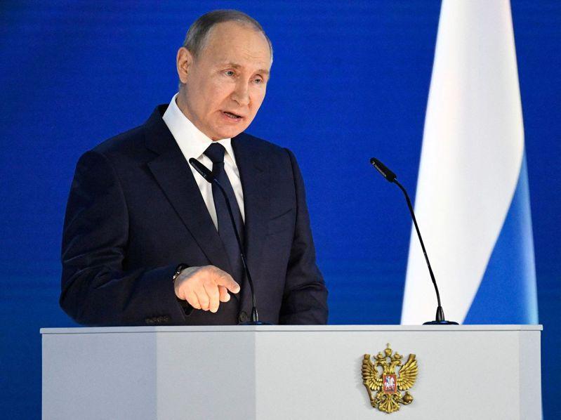俄羅斯總統普亭。法新社