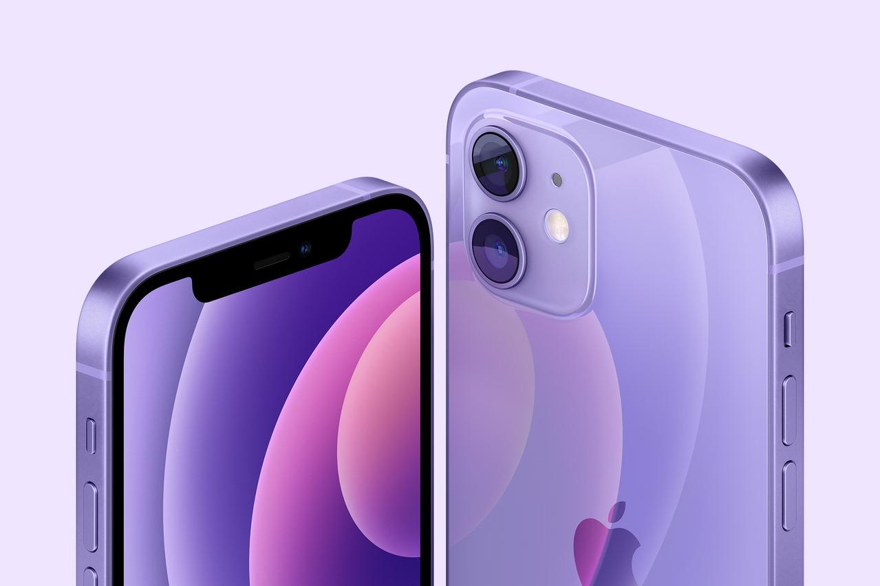 超级惊喜:苹果推出梦幻般的紫色版本的iPhone 12,iPhone 12 mini 苹果新闻发布会即将到来数字的