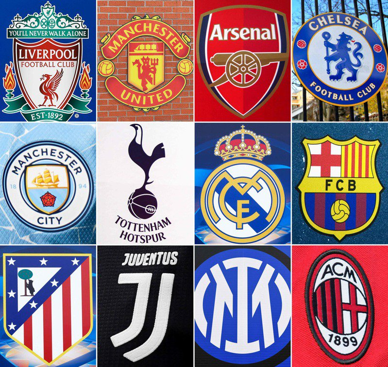 英國、義大利和西班牙共計12間足球豪門球隊日前正式宣布成立「歐洲超級聯賽」,引發世界足壇群起反彈後,有球隊隨即打退堂鼓,其中6支響應的英超球會均將退出。法新社