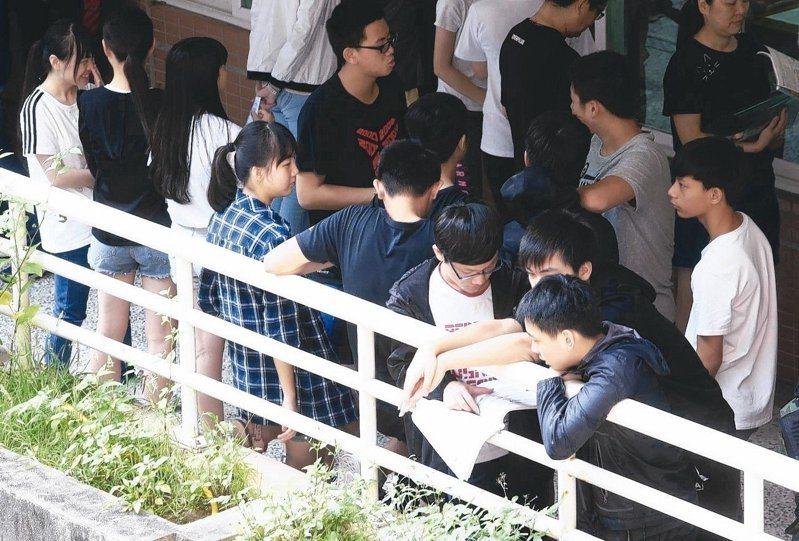 國中教育會考5月15日至16日舉行。本報資料照片