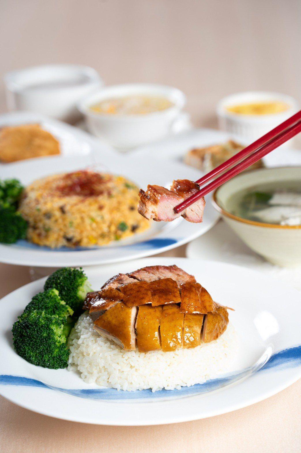 以道地粵菜著稱的皇樓中餐廳,推出商業午餐套餐搶攻午間用餐市場,經濟實惠。圖/義大...