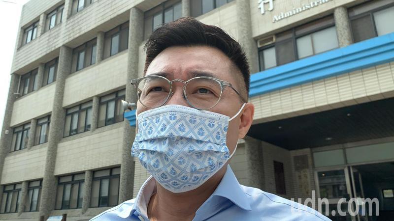 國民黨主席江啟臣說,缺水到限水,主因是氣候變遷,若不從氣候變遷因應,台灣一定會變成氣候難民,還會面臨國際壓力。記者喻文玟/攝影