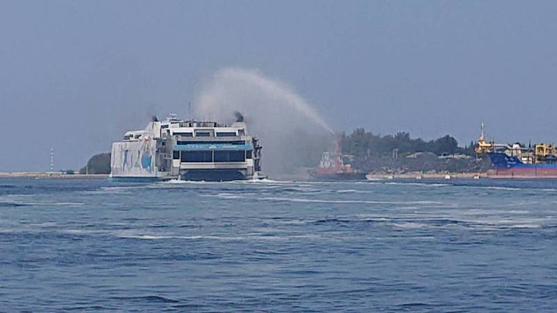 「麗娜輪」再次開啟安平至馬公客運航線。照片/港務公司提供