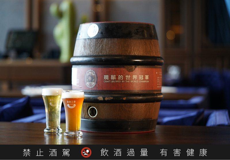 金色三麥推出限時活動,身份證有幾個3,就可免費兌換幾杯啤酒。圖/金色三麥提供