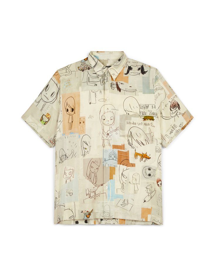 STELLA McCARTNEY和奈良美智合作的印花襯衫。圖/STELLA Mc...