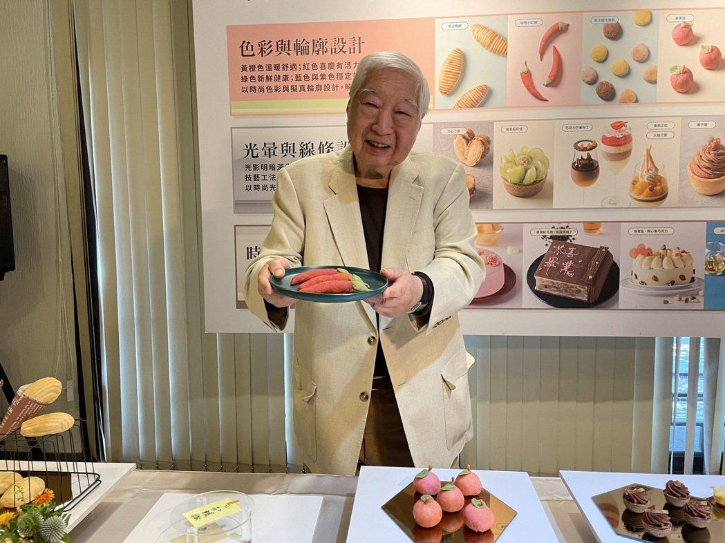 南僑舉辦烘焙特展,聚焦餐飲烘焙化。圖為南僑會長陳飛龍。記者林海/攝影