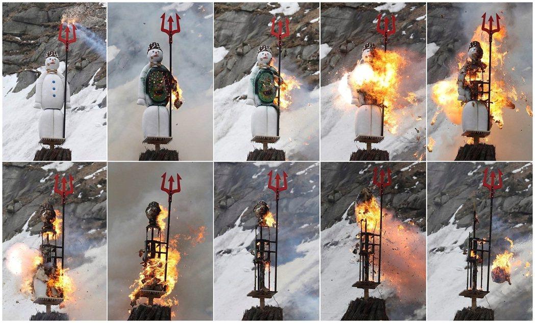 根據蘇黎世官方介紹與外媒報導,巨型雪人波伊格象徵冬季惡魔,被燃燒代表驅趕冬天跟預...