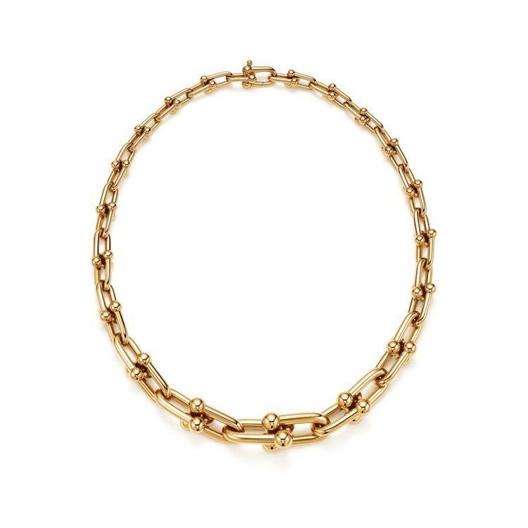 Tiffany HardWear 18K金鏈結設計項鍊,45萬2,000元。圖/...