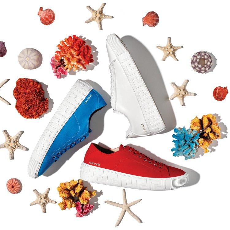 Versace全新推出Greca系列運動鞋。圖/Versace提供