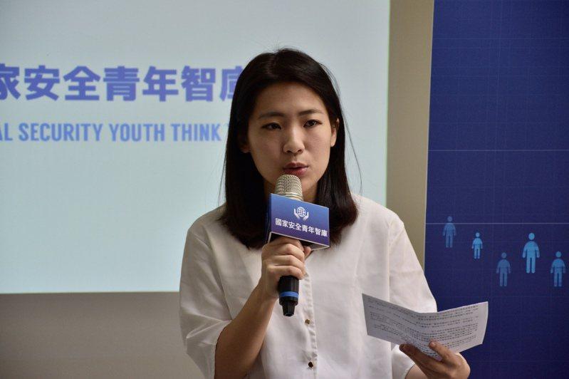台北市議員徐巧芯表示,成立智庫並非針對黨主席選舉或主席江啟臣。記者鍾維軒/攝影