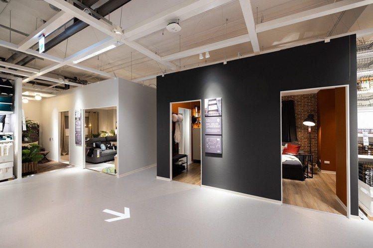 針對台北市許多小坪數居家空間,IKEA內湖店提出更多收納建議。記者沈昱嘉/攝影