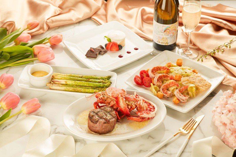 茹絲葵經典牛排館母親節套餐,於5月1日至9日限時限量供應。圖/茹絲葵經典牛排館提供。