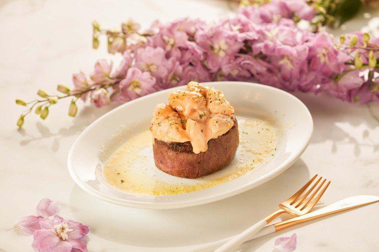美國菲力佐香料蟹肉。 圖/茹絲葵經典牛排館提供。