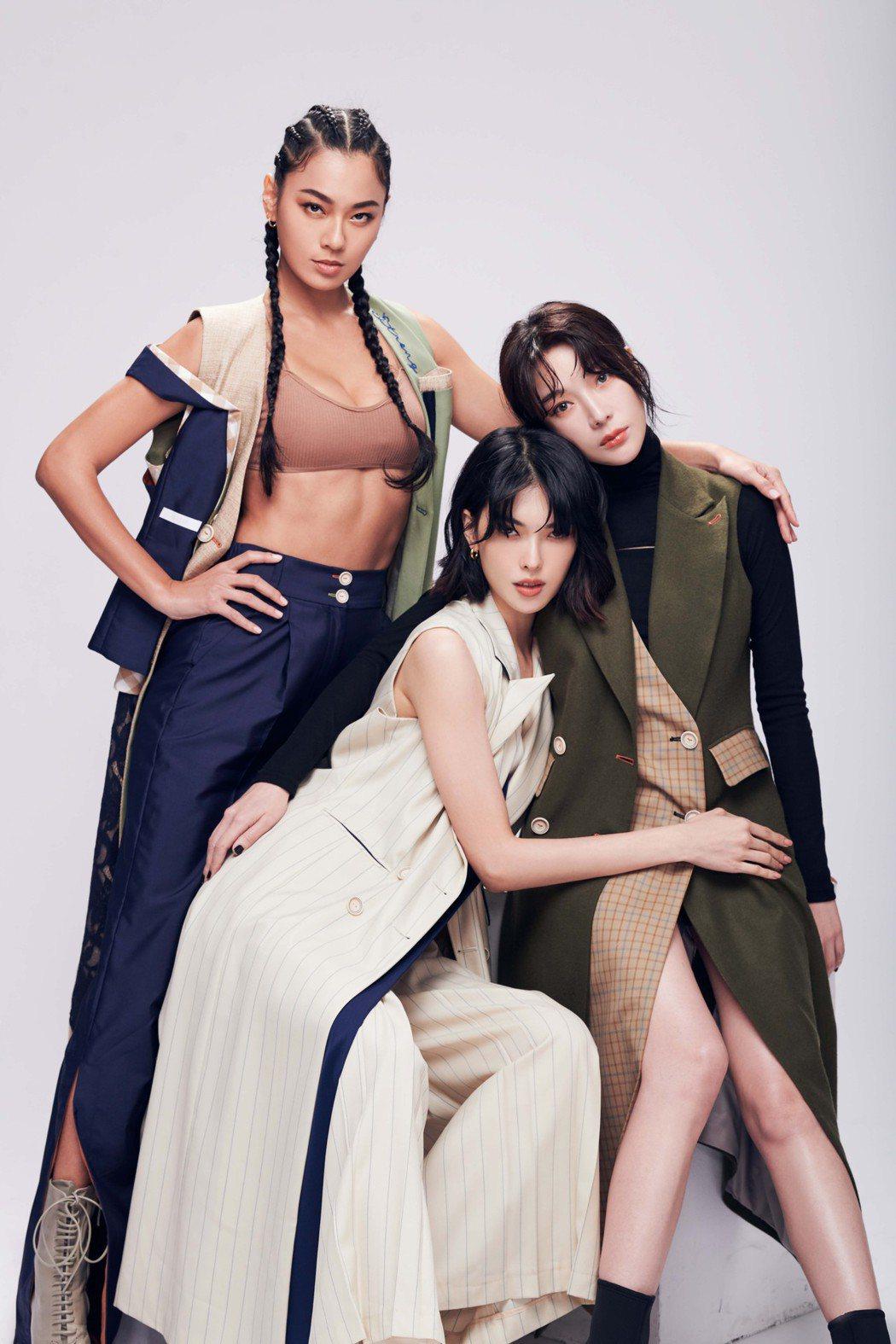 王麗雅(左起)、王思偉、蔡淑臻公開自信美學,線上課程不藏私。圗/伊林娛樂提供
