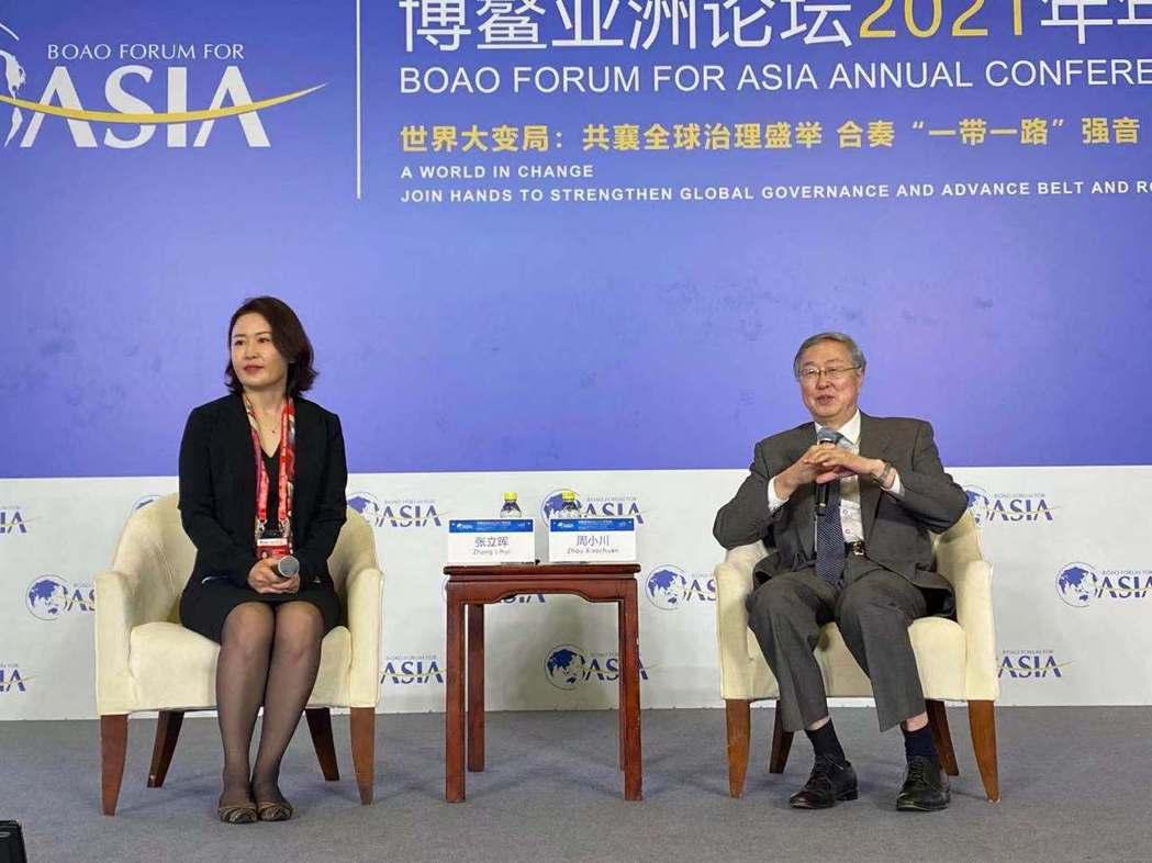 博鰲亞洲論壇副理事長、中國人民銀行前行長周小川(右)。中國證券報