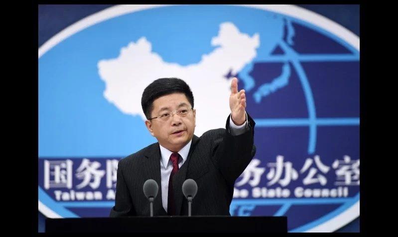 4月15日北京國台辦發言人馬曉光說「1949年國民黨政權反人民內戰中失敗,退居台...