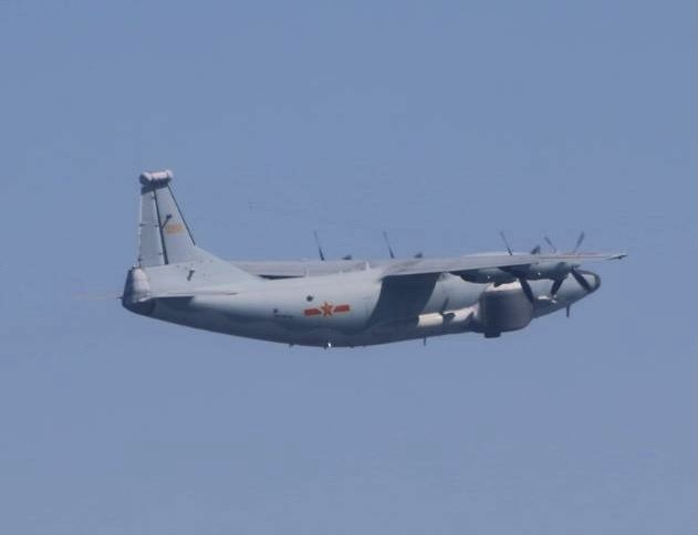 兩架共機包括運-8技偵機、運-8遠干機各一架次,今天分批侵入我西南防空識別區。圖/國防部