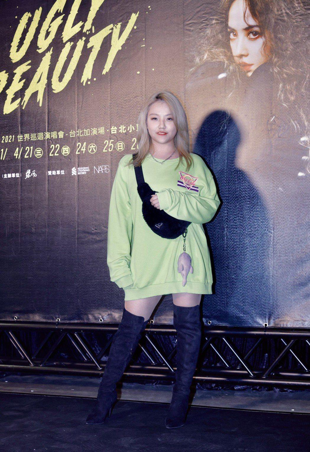 安那很期待見到蔡依林的性感裝扮。記者李政龍/攝影