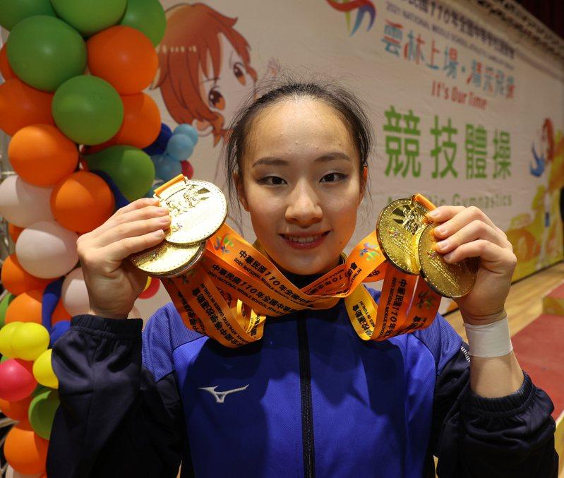 東奧國手丁華恬帶著4面金牌從全中運賽場畢業。圖/運促會提供
