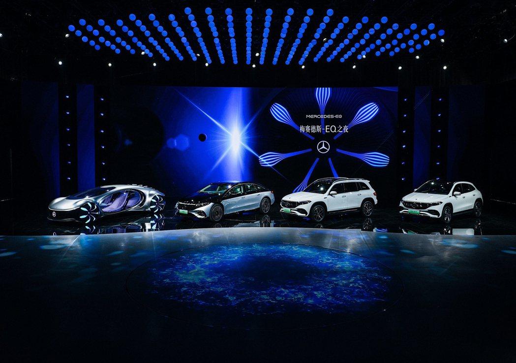 全新Mercedes-Benz EQB在2021上海車展上舉行全球首發會。 摘自...