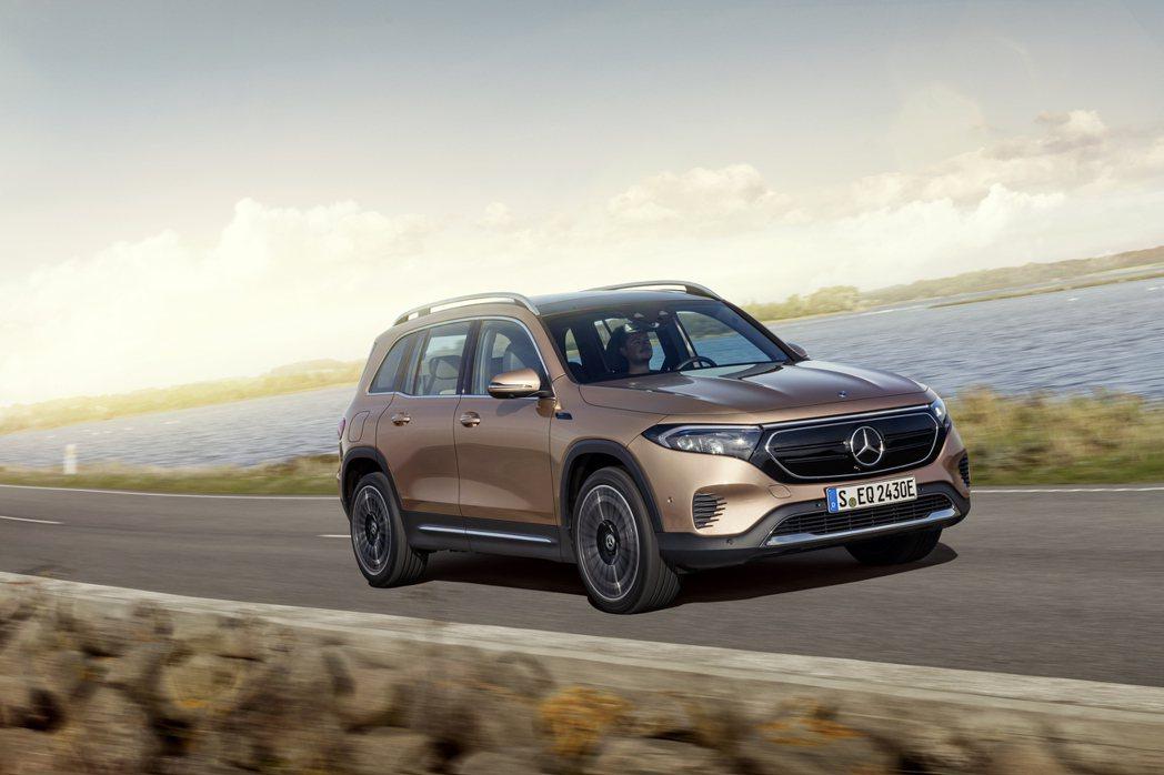 全新Mercedes-Benz EQB最大續航距離可達到419公里 (WLTP)...