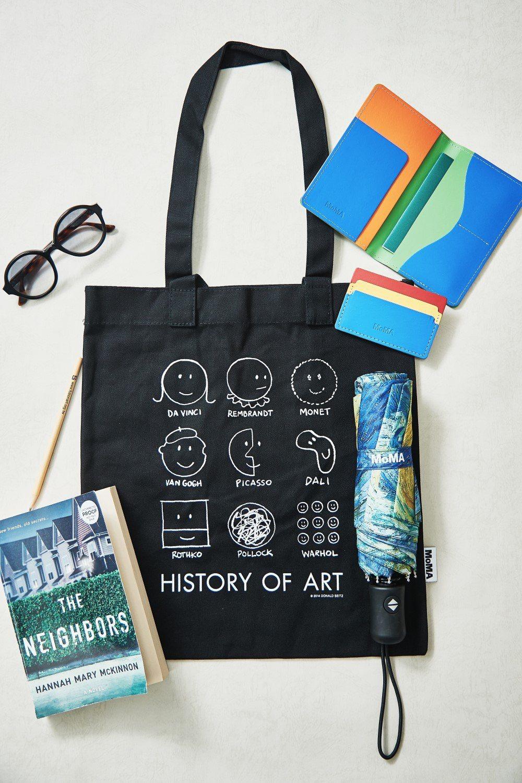 100%純棉的Donald Seitz插畫環保袋。富邦藝術基金會/提供