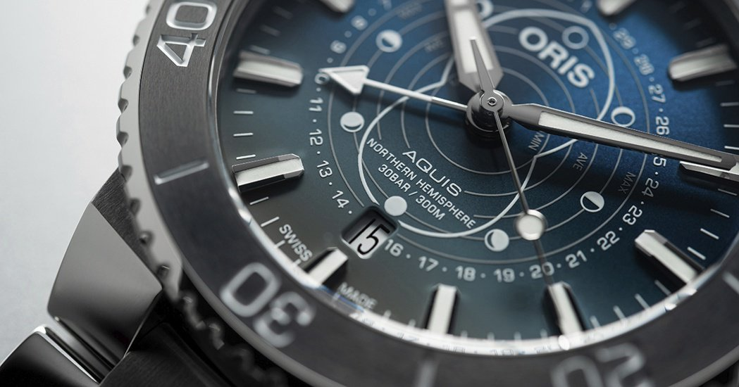 Dat Watt限量潛水腕錶獨家打造月相與潮汐錶盤,以支持瓦登海的生態保育行動,...