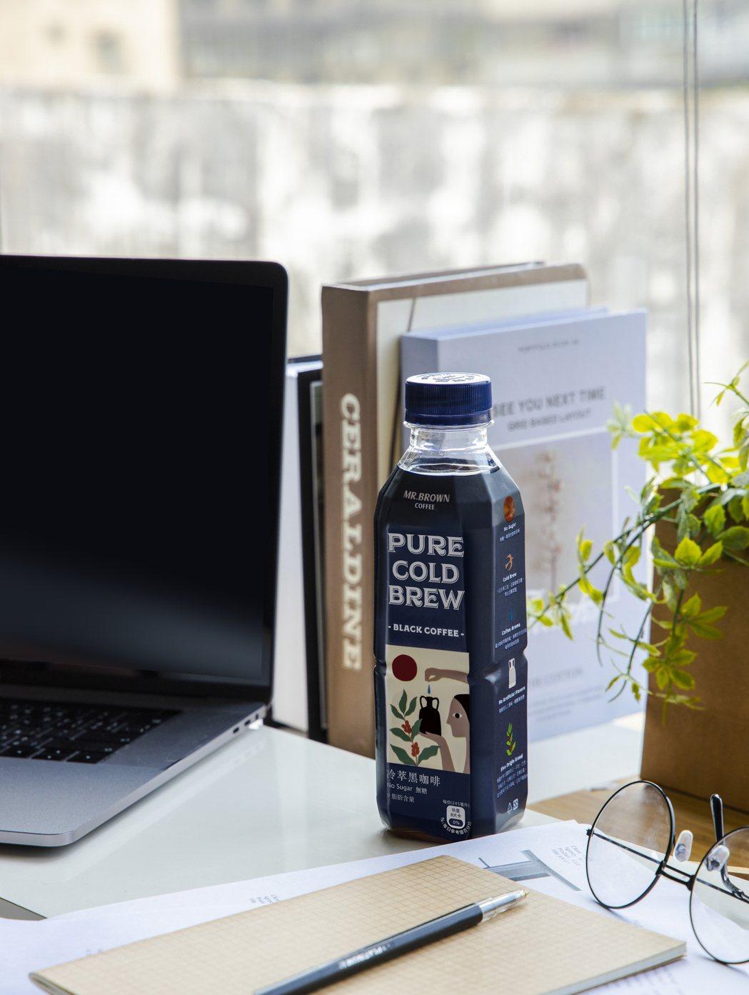 金車伯朗PURE醇飲冷萃無糖黑咖啡。金車/提供