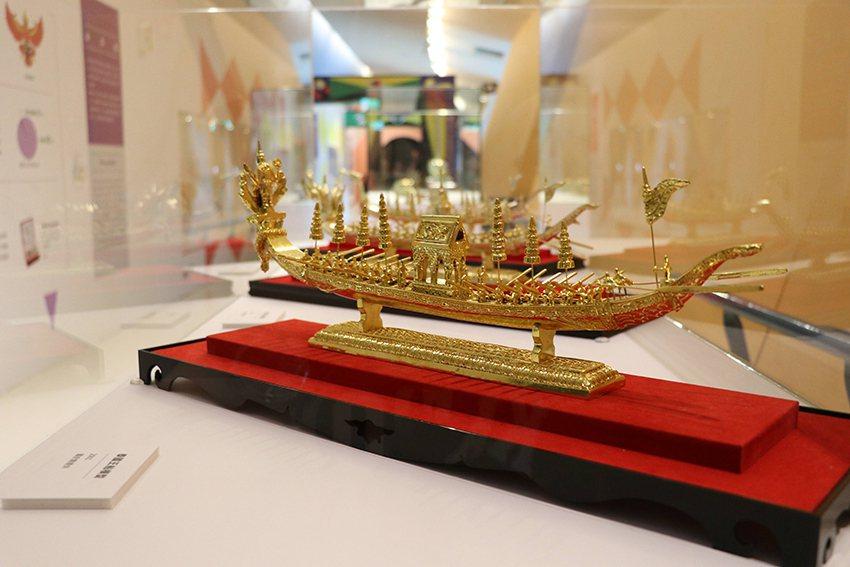 泰國王船模型作工精細,揭示暹羅皇室文化的印度元素。 十三行博物館/提供