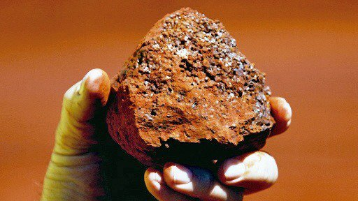 鐵礦砂示意圖。 吳岱穎