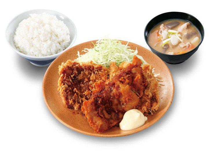 香酥雞排搭配唐揚雞雙拼定食,每份229元。圖/吉豚屋提供