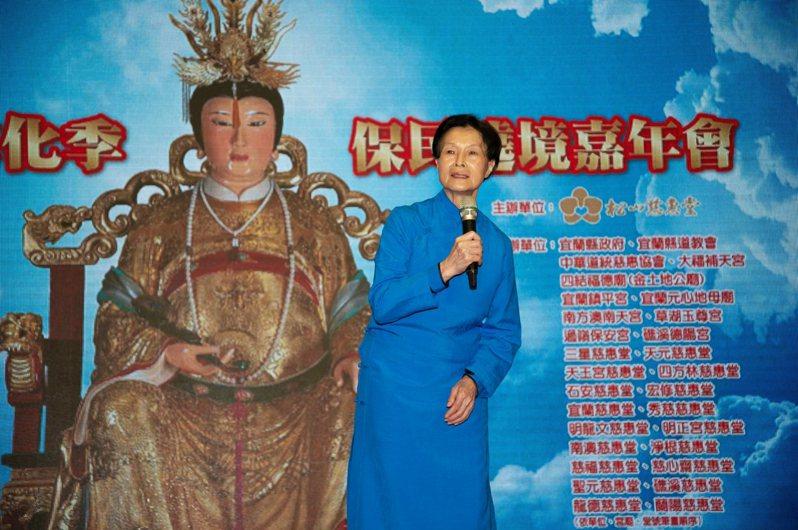 松山慈惠堂舉辦的台北母娘文化季保民遶境活動,首度移駕到宜蘭,主辦單位今天說明活動。 圖/縣政府提供