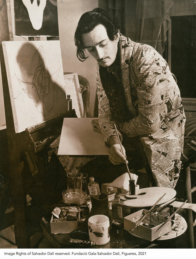 達利作品將來台,圖為達利肖像。圖/時藝多媒體提供
