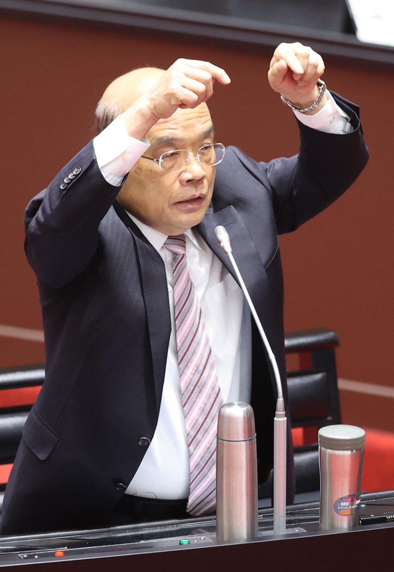 國民黨立院黨團希望行政院長蘇貞昌針對台鐵改革、紓困條例展延,向立院進行專案報告。本報資料照片