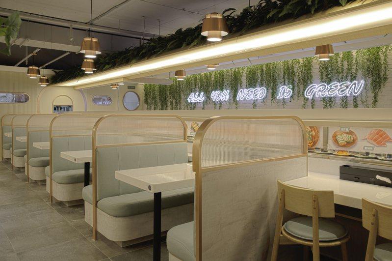 爭先食蔬店內共有87席座位。圖/爭鮮提供