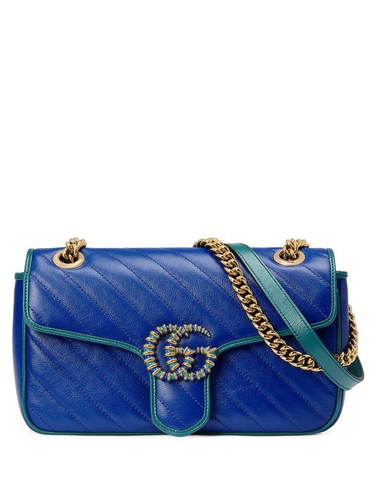 GG Marmont 系列藍色肩背包,84,800元。圖/Gucci提供
