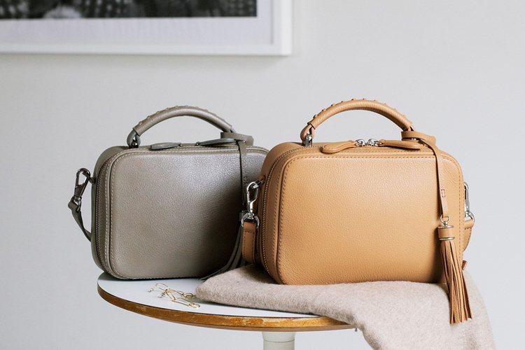 土屋鞄製造所Clarte流蘇迷你箱型包約14,500元。圖/土屋鞄製造所提供