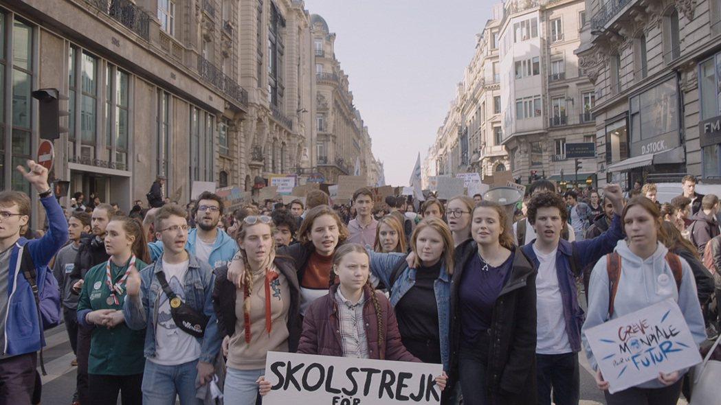 格蕾塔.童貝里(中)2019年9月動員百萬人為全球氣候罷課。捷傑提供